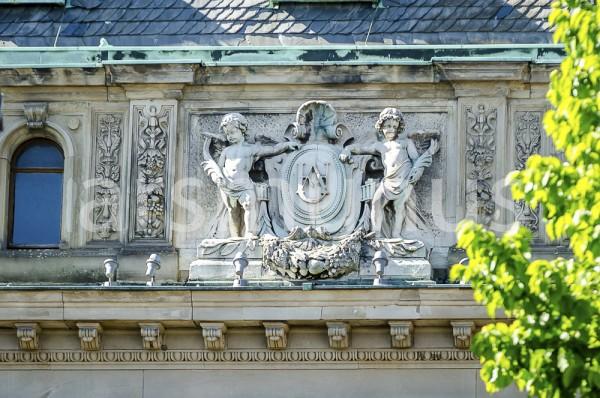 Skulpltur am Underbergstammhaus in Rheinberg